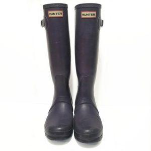 Hunter Purple Original Tall Rain Boots 7
